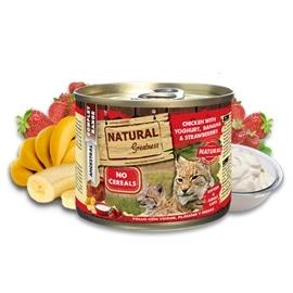 Natural Greatness Frango e iogurte com banana e morangos para gatos - GENGWC-UP-7