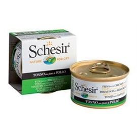 Schesir Pack 14 Cat Atum e Frango em gelatina natural - HE1958003