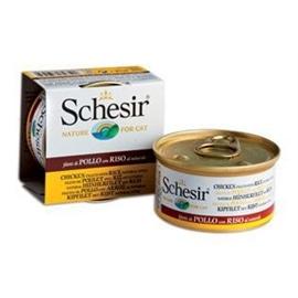 Schesir Pack 14 Schesir lata para gato Frango com Arroz ao natural - HE1958017