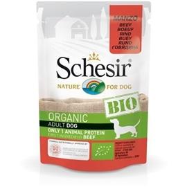 Schesir Pack 16 Schesir Bio para cão saqueta carne de vaca 85gr - HE1958348