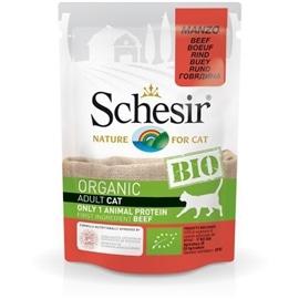 Schesir Pack 16 Schesir Bio para gato saqueta carne de vaca 85gr - HE1958344