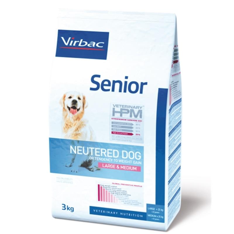 Virbac Veterinária HPM Senior Neutered Dog Large & Medium - 12 Kgs - 3561963600470