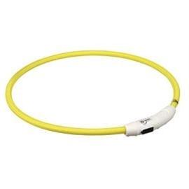 Trixie Colar Luminoso Flash Light Usb L-XL 65 cm - (L-XL) 65CM (LARANJA) - OREXTX12705