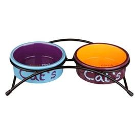 Trixie Conjunto Eat-On-Feet para Gatos 2x0,3 L/Ø 12 cm - OREXTX24791