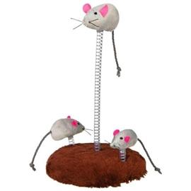 Trixie Familia de Ratos em Peluche com Base e Mola - OREXTX4070