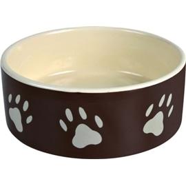 Trixie Gamela Ceramica Castanha com Patinhas Bege - 20CM - OREXTX24533