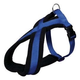 Trixie Peitoral Premium Forrado Azul 35-50 cm - OREXTX20372