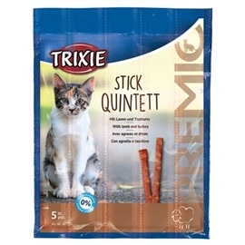 Trixie Premio Stick Quintett com Cordeiro e Peru - C/ CORDEIRO E PERU - OREXTX42723